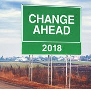 sign showing change ahead 2018